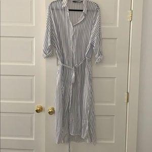 Zara striped cover up/ dress size S